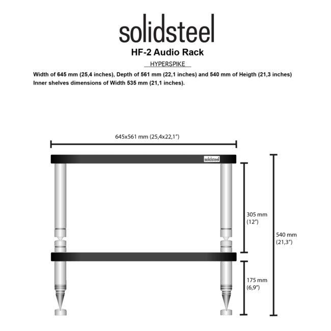 Solidsteel Hyperspike HF-2 Hi-Fi Rack