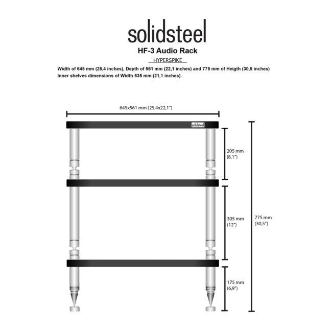 Solidsteel Hyperspike HF-3 Hi-Fi Rack