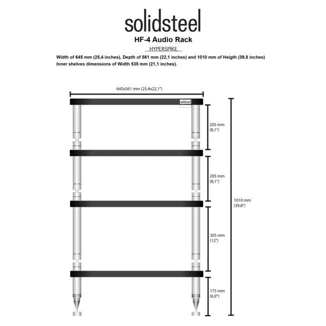 Solidsteel Hyperspike HF-4 Hi-Fi Rack