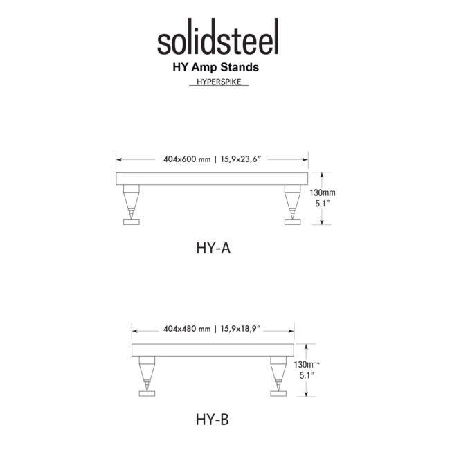 Solidsteel Hyperspike HY-A High-end Power Amp Stand